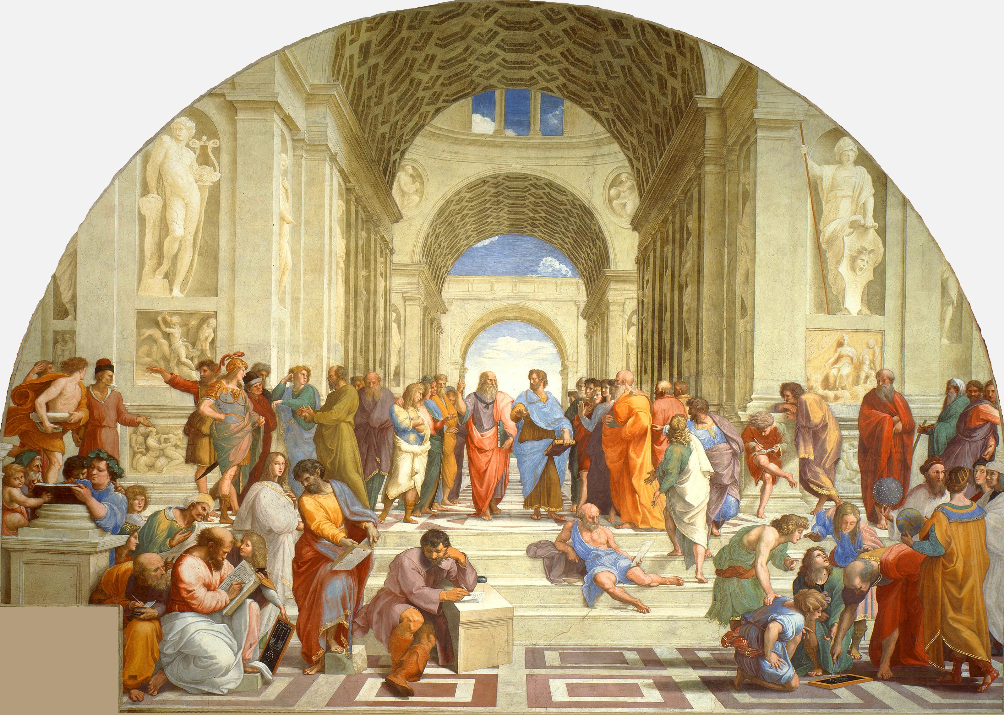 Figura 1 - Rafael Sanzio. A escola de Atenas (1510). Vaticano, Stanza della Segnatura.
