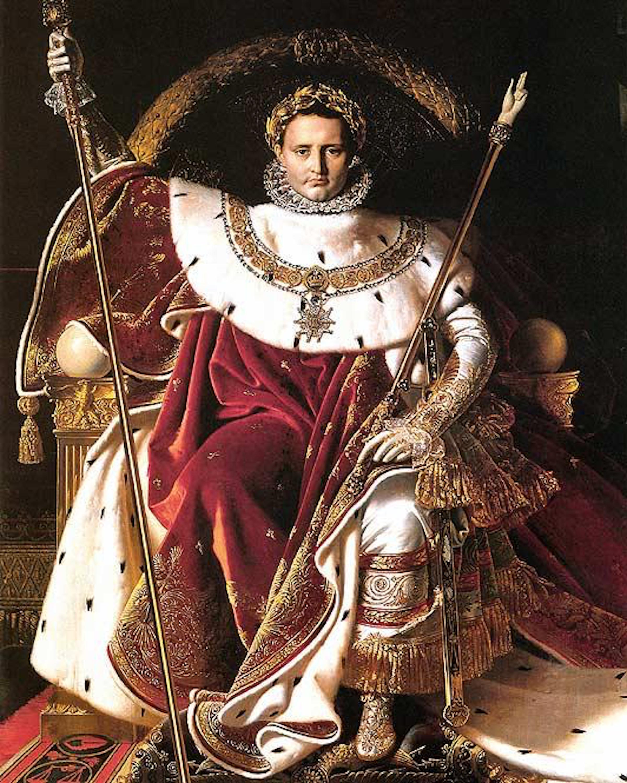 Figura 13 - J.-A.-D. Ingres. Napoleão I no trono Imperial (1806). Paris, Musée de l'Armée.