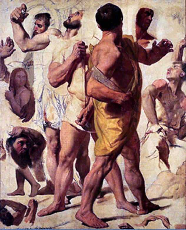 Figura 16 - J.-D.-A. Ingres. estudos para O Martírio de são Sinforiano (ant. a 1834). Montauban, Musée Ingres.