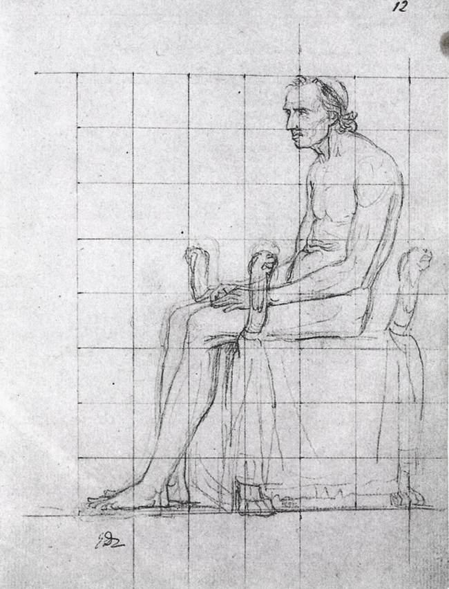 Figura 17 - Jacques-Louis David. Estudo para o papa Pio VII. Massachusetts, Fogg Art Museum.