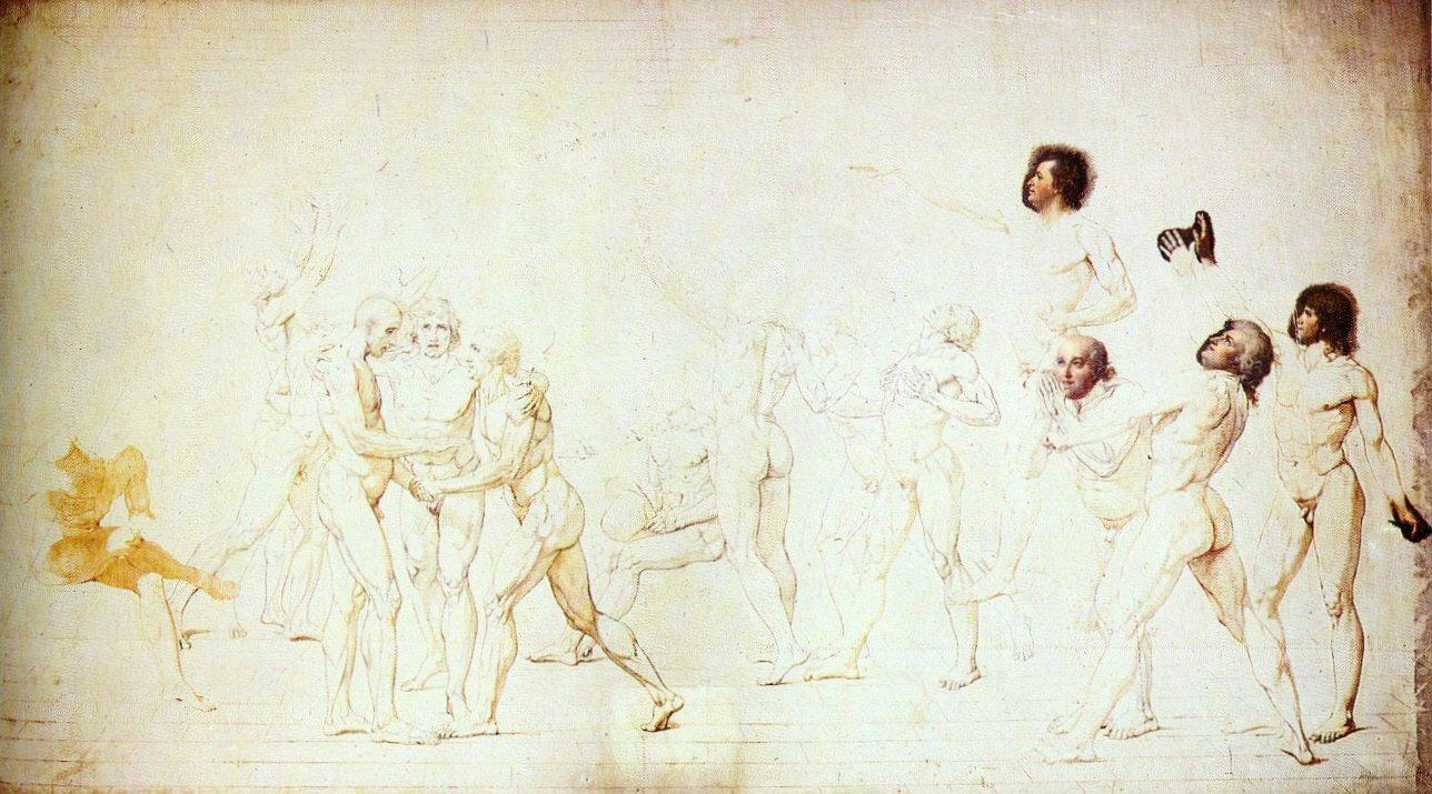 Figura 18 - Jacques-Louis David. O juramento do Jogo de Péla. Versailles, Musée National du Château.