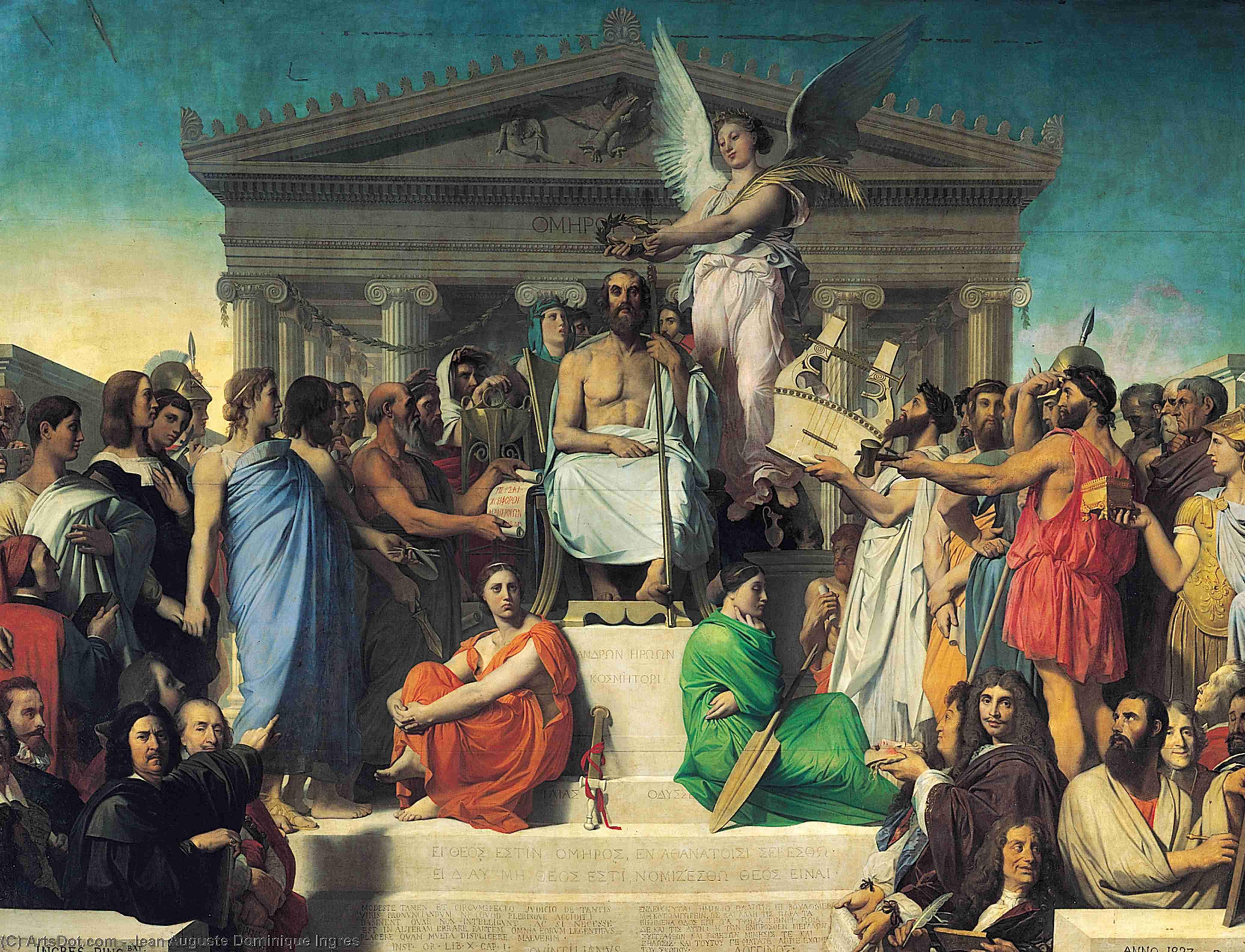 Figura 2 - J.-A.-D. Ingres. A apoteose de Homero (1827). Paris, Musée du Louvre.