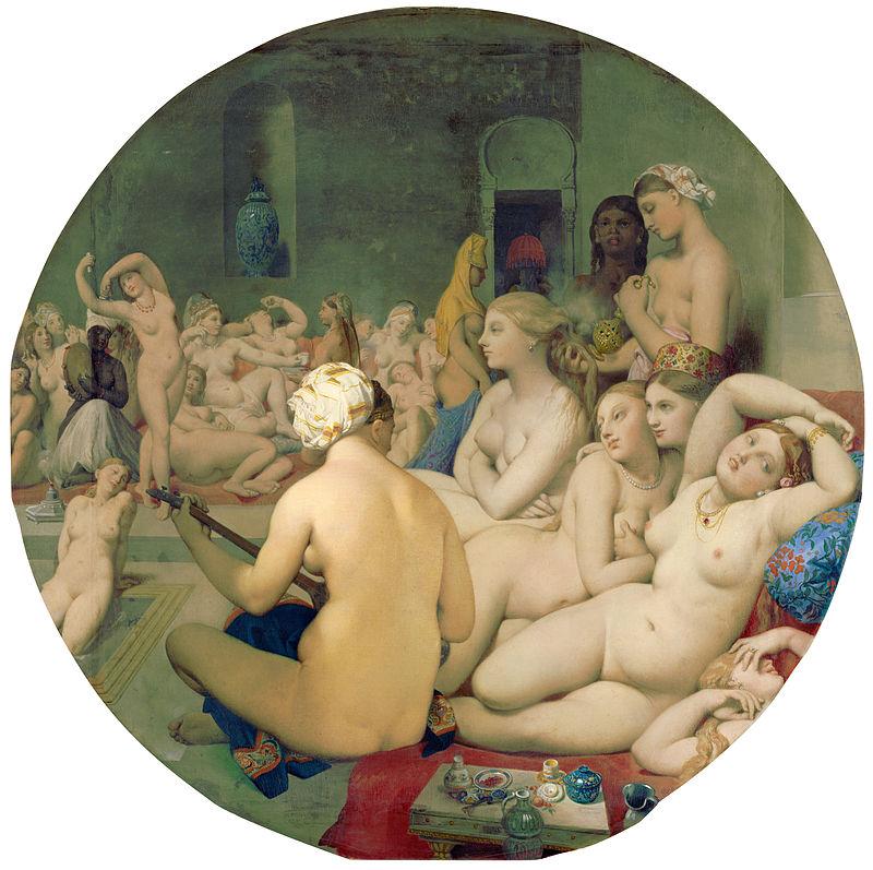 Figura 4 - O banho turco (1859-63). Paris, Musée du Louvre.