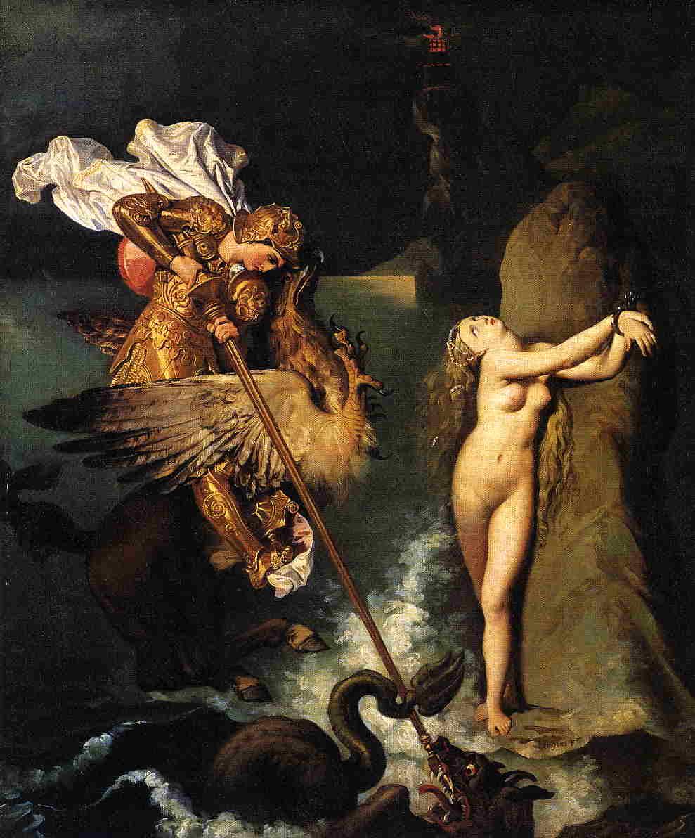 Figura 5 - J.-A.-D. Ingres, Rogério libertando Angélica (anterior a 1839) Londres, National Gallery.