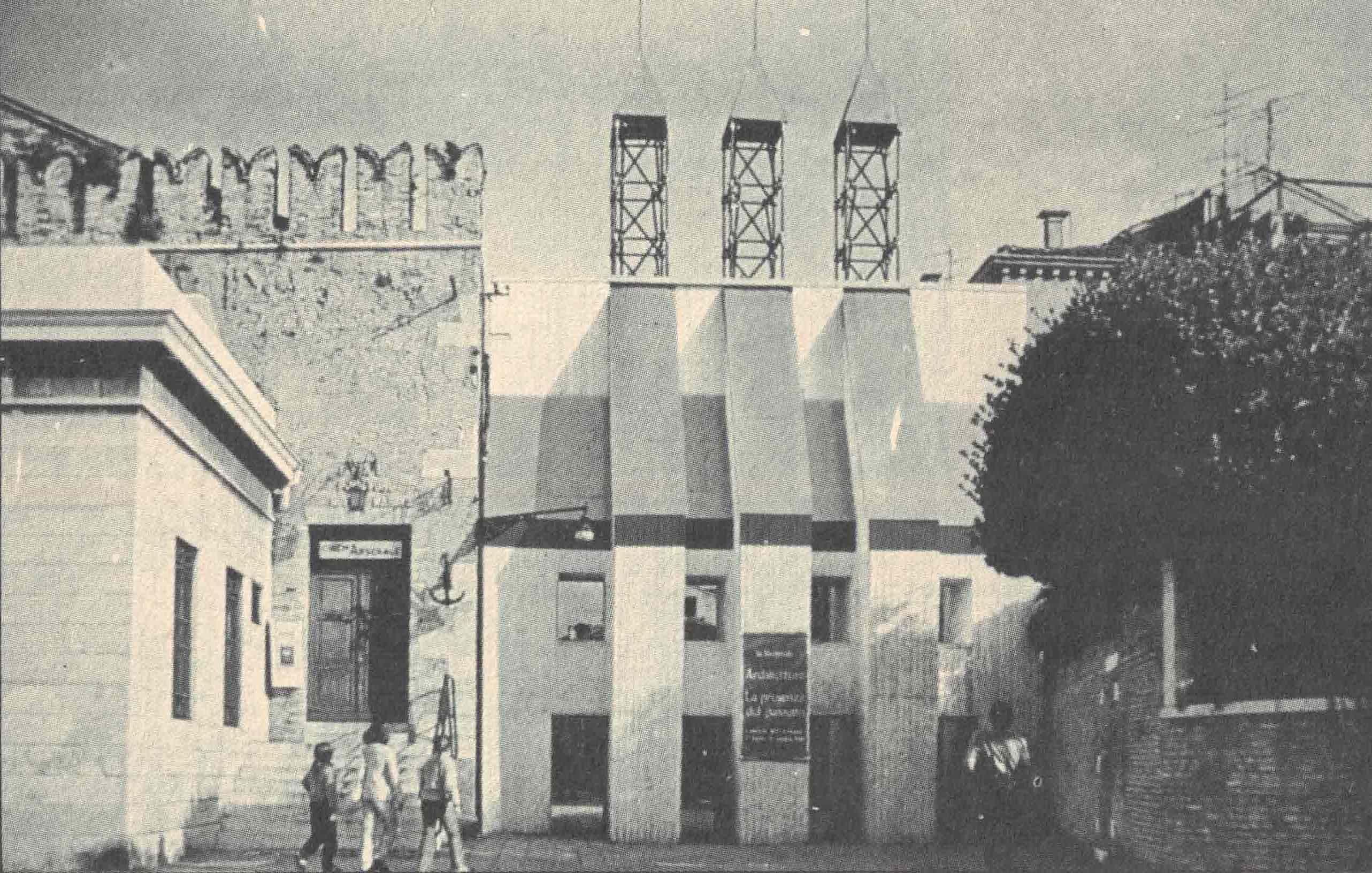Figura 1. Aldo Rossi, Entrada para a mostra da I Bienal Internacional de Arquitetura, 1980