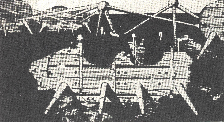 Figura 13. Ron Heron (Archigram), Projeto para uma Walking-City, 1964