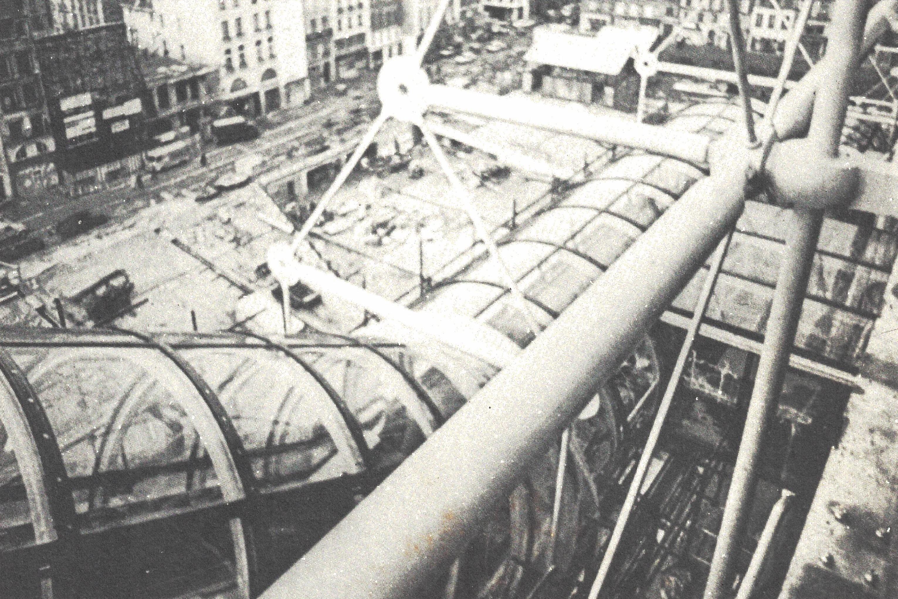 Figura 16. Rogers e Piano, Detalhe dos tubos externos de circulação, Beaubourg