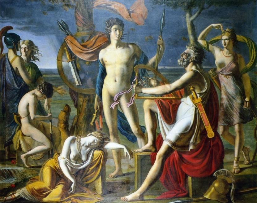 Figura 7 - Paul Duqueylar. Ossian declamando seus poemas (1797). Aix-en-Provence, Musée Granet.