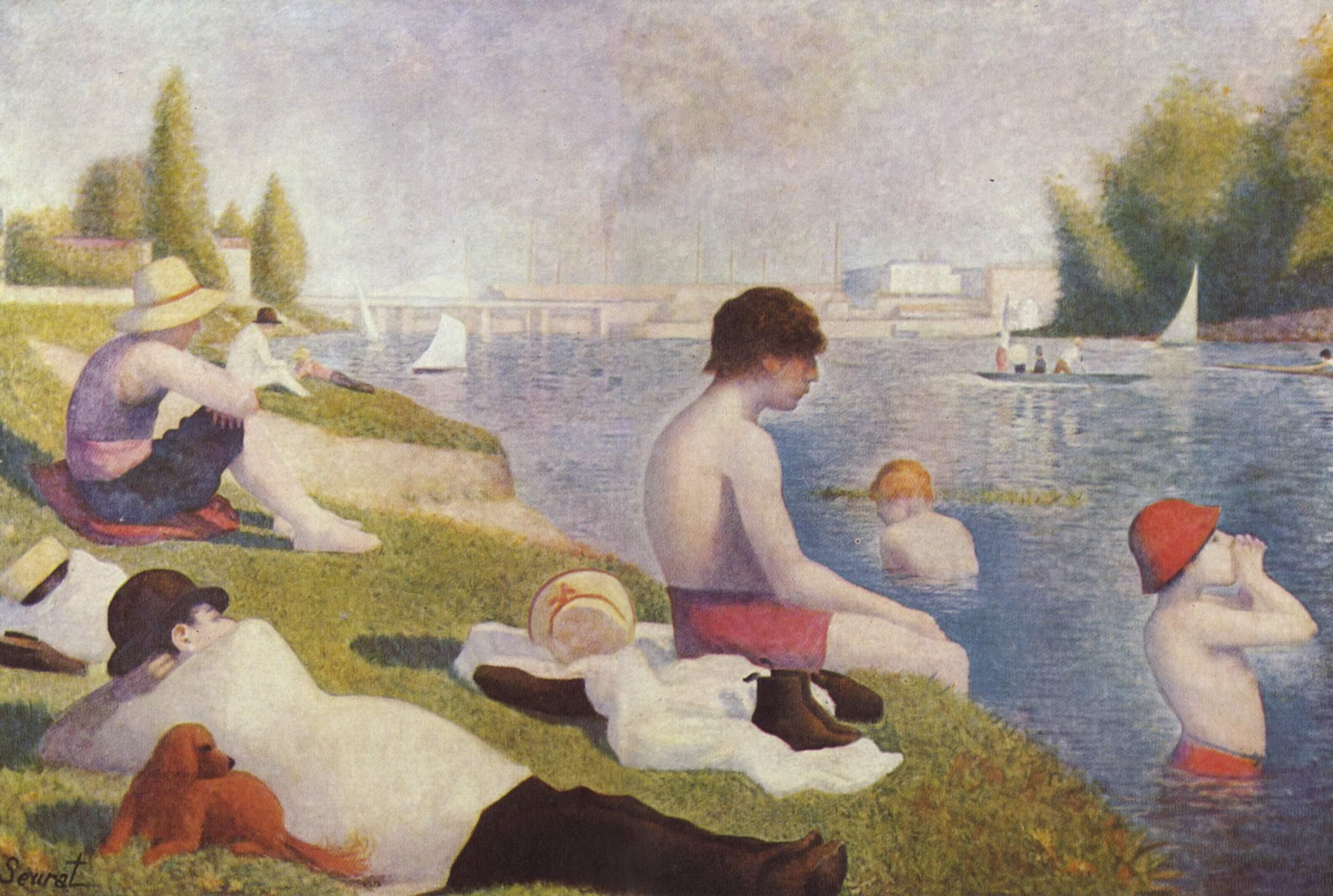 Figura 1. Georges Seurat, Une Baignade, Asnière