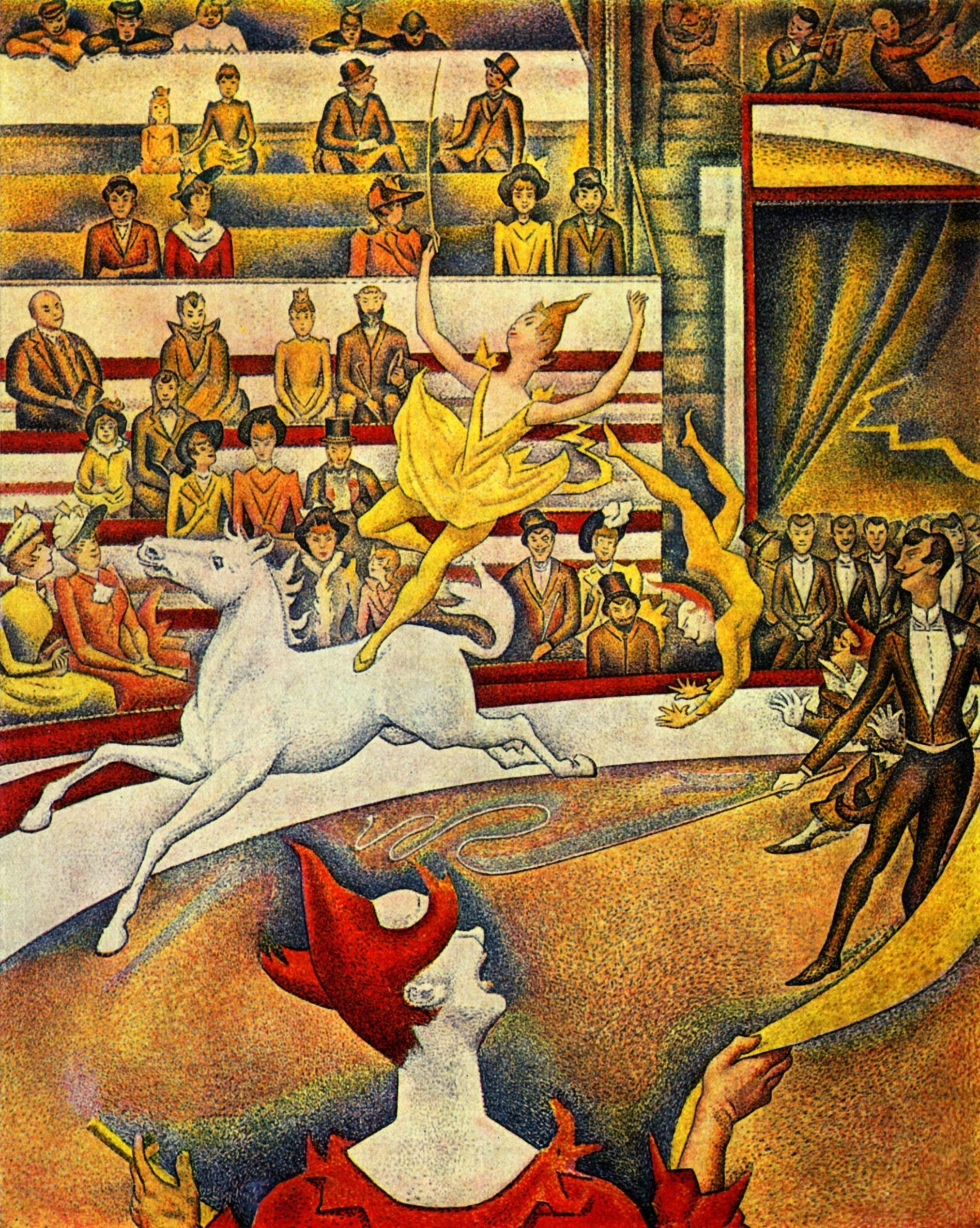 Figura 6. Georges Seurat, Le Cirque