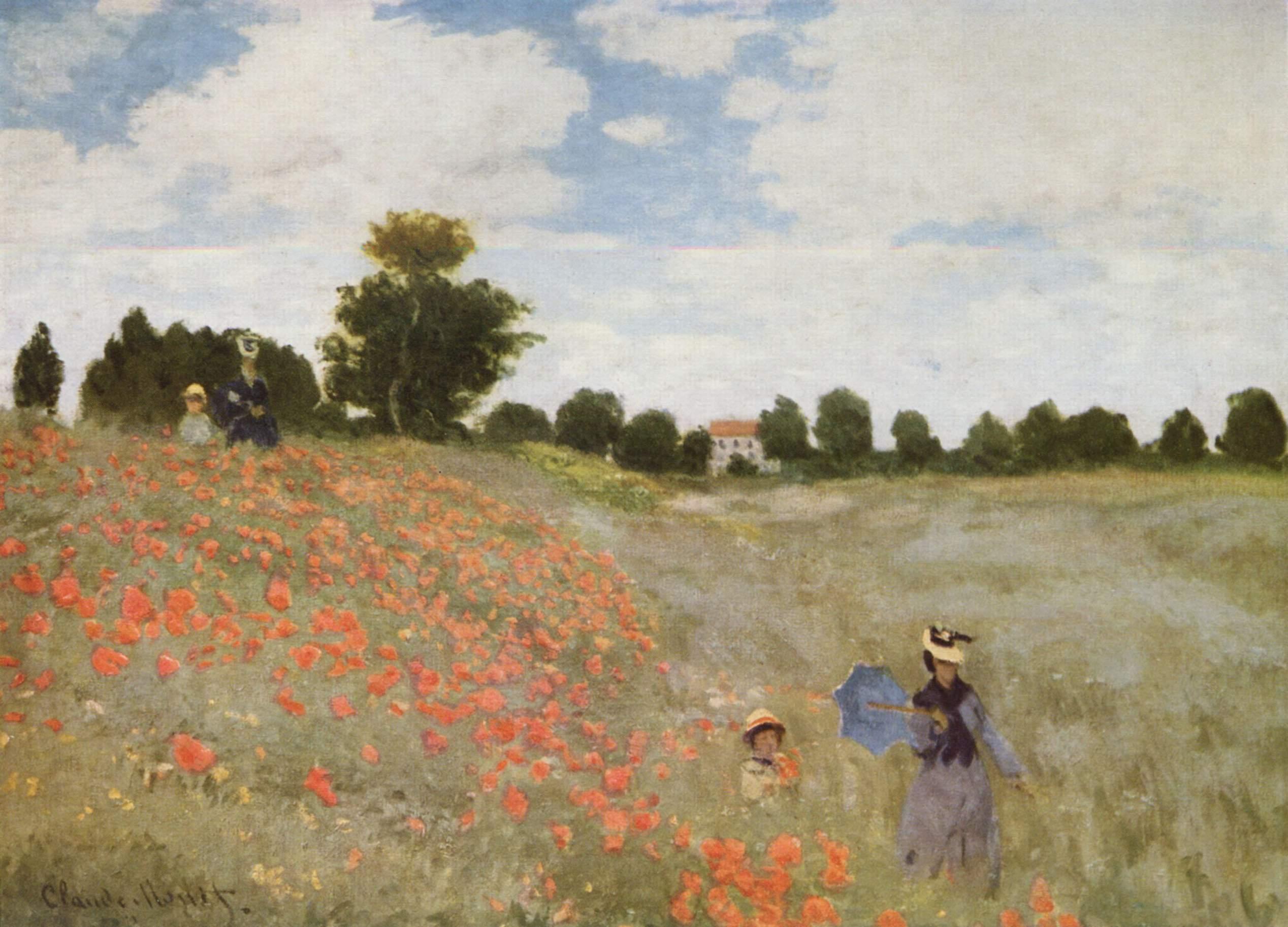 Figura 9. Claude Monet, Les coquelicots à Argenteuil