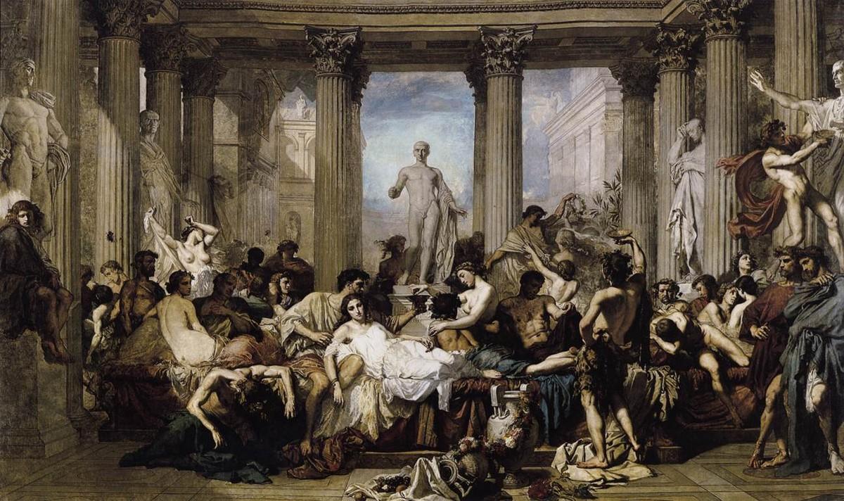 Figura 2 - Thomas Couture, Os romanos da decadência.
