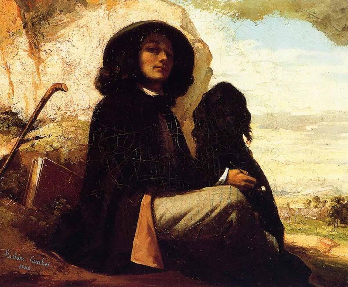 Figura 10 - Autorretrato com o cão negro