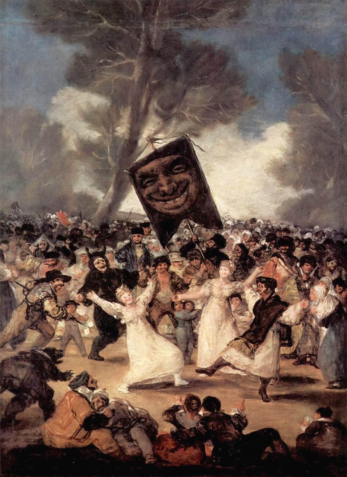 Figure 10. Goya, O enterro da sardinha.