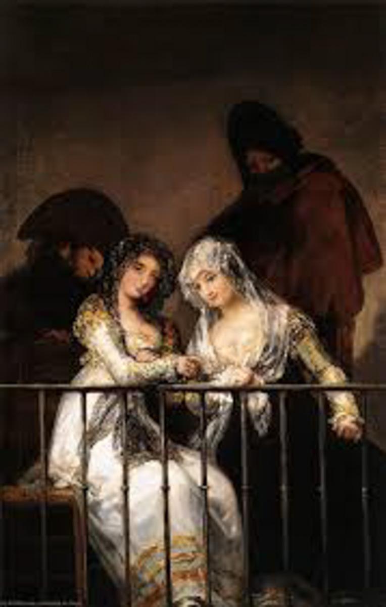 Figure 11. Goya, Majas no balcão.