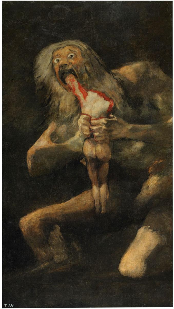 Figure 18. Goya, Saturno devorando seu filho.