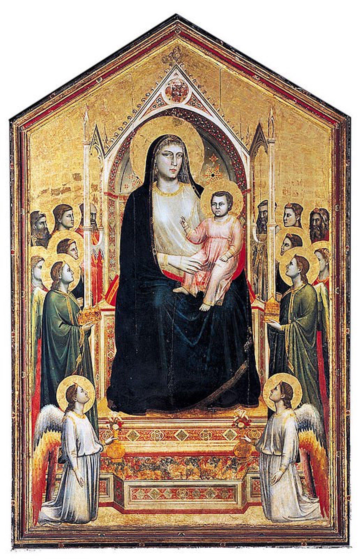 Figure 2. A Madona de todos os Santos, Giotto (1303c. 1310). Florença, Uffizi.