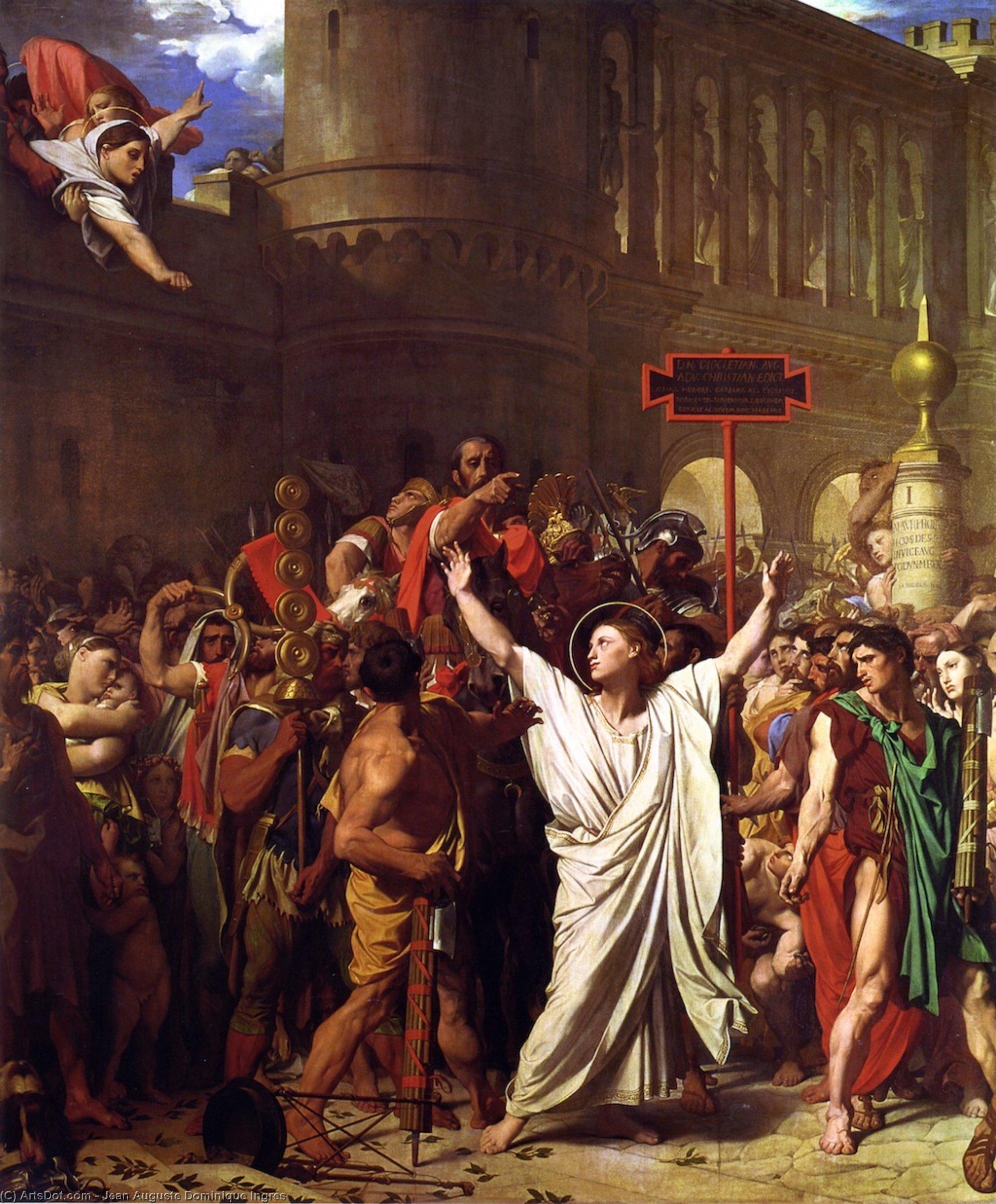 Figura 23 - J.-D.-A. Ingres. O martírio de são Sinforiano (1834). Autun, Catedral.