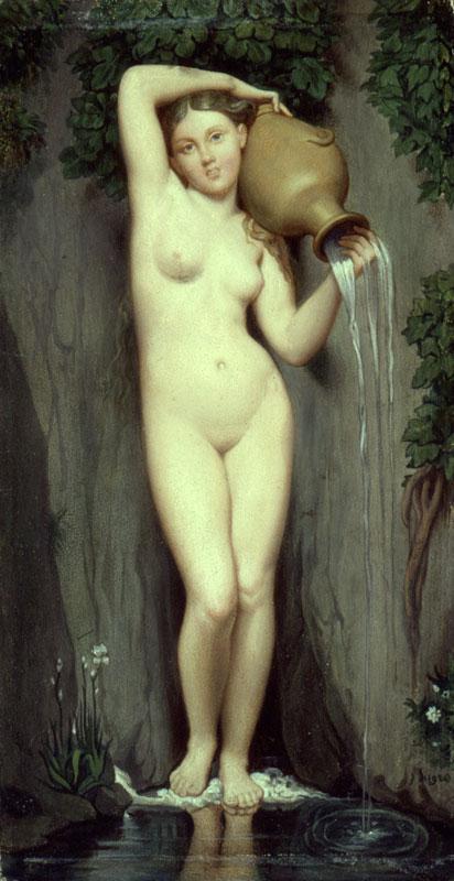 Figura 9 - J.-A.-D. Ingres. A fonte (1820-56). Paris, Musée d'Orsay.