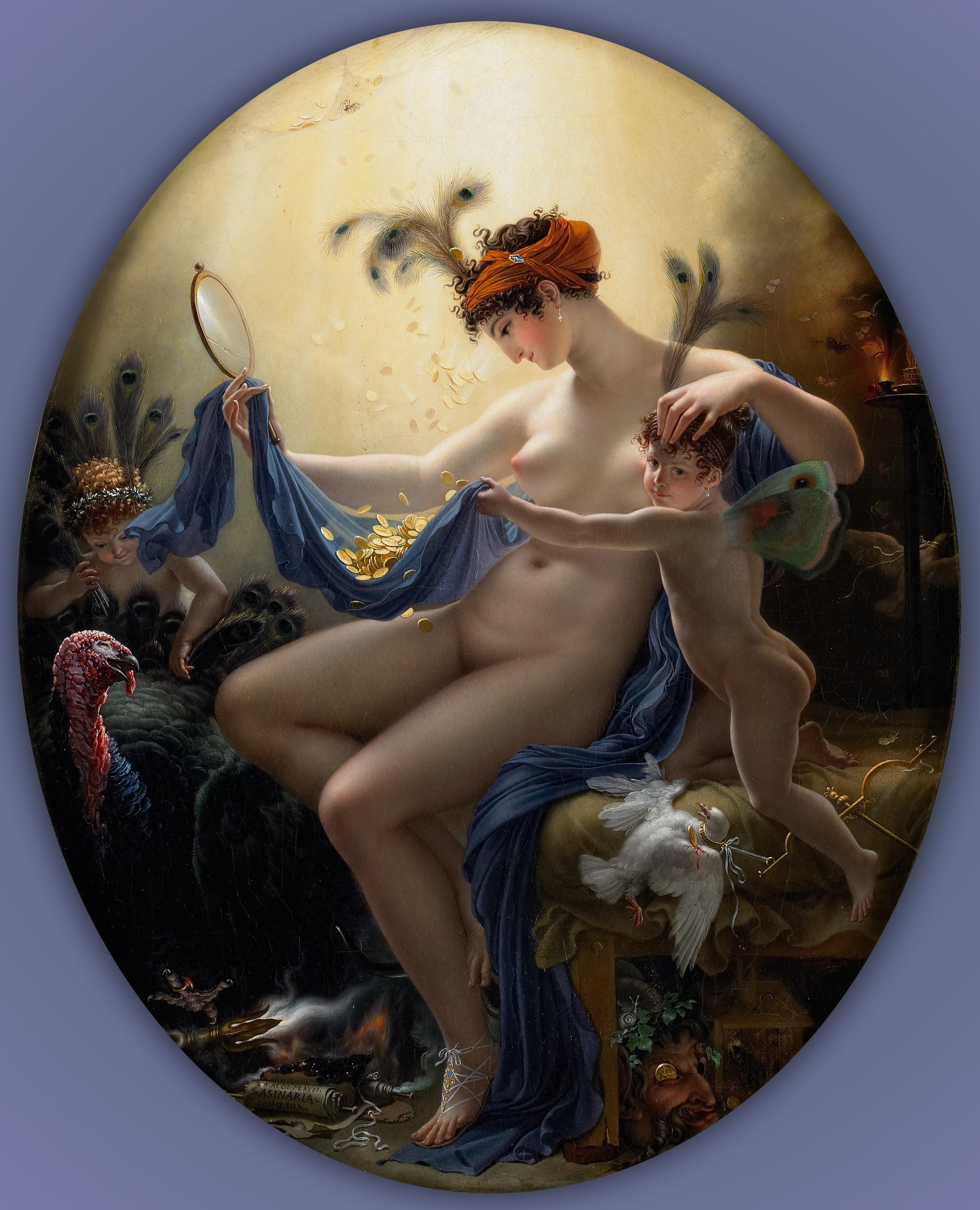 Figura 22 - Anne-Louis Girodet, Mlle. Lange como Dânae