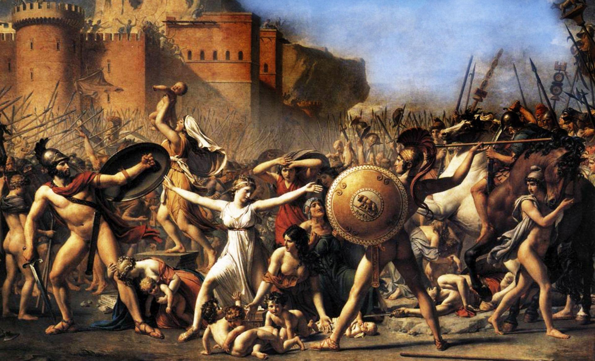 Figura 23 - Jacques-Louis David, As sabinas