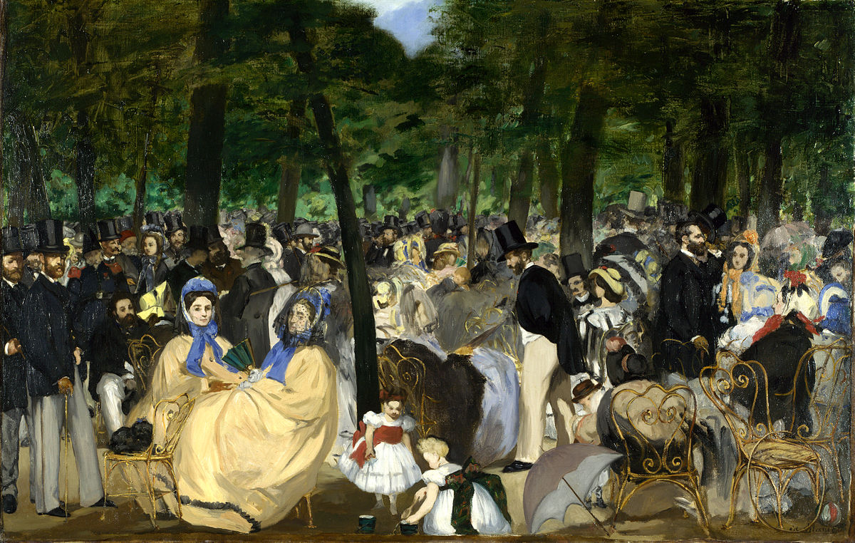 Figura 6 - Édouard Manet, A música nas Tulherias.