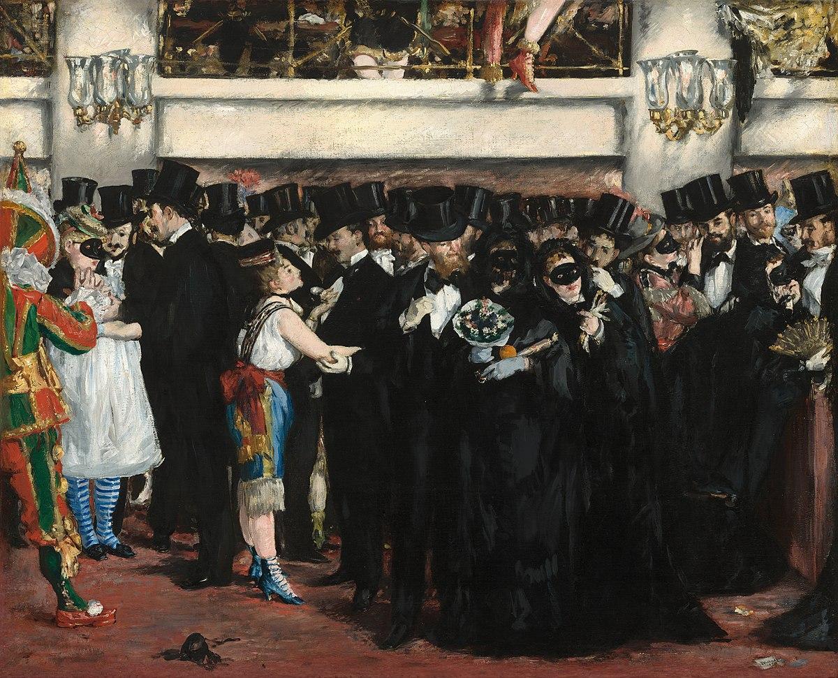 Figura 7 - Édouard Manet, Baile de máscaras na Ópera.
