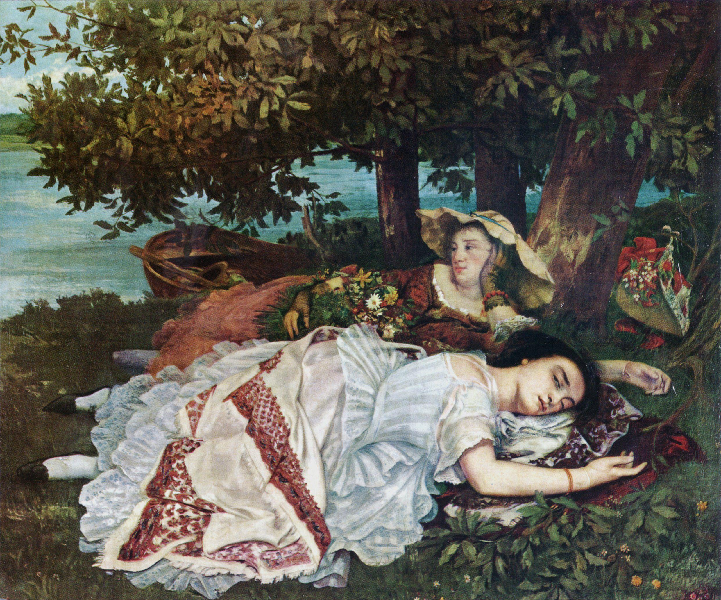 Figura 24 - Gustave Courbet, As senhoritas da beira do Sena (verão).
