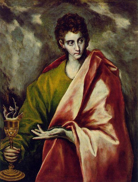 Figura 2 - El Greco. São João Evangelista (1595-1600). Madri, Museu do Prado.`