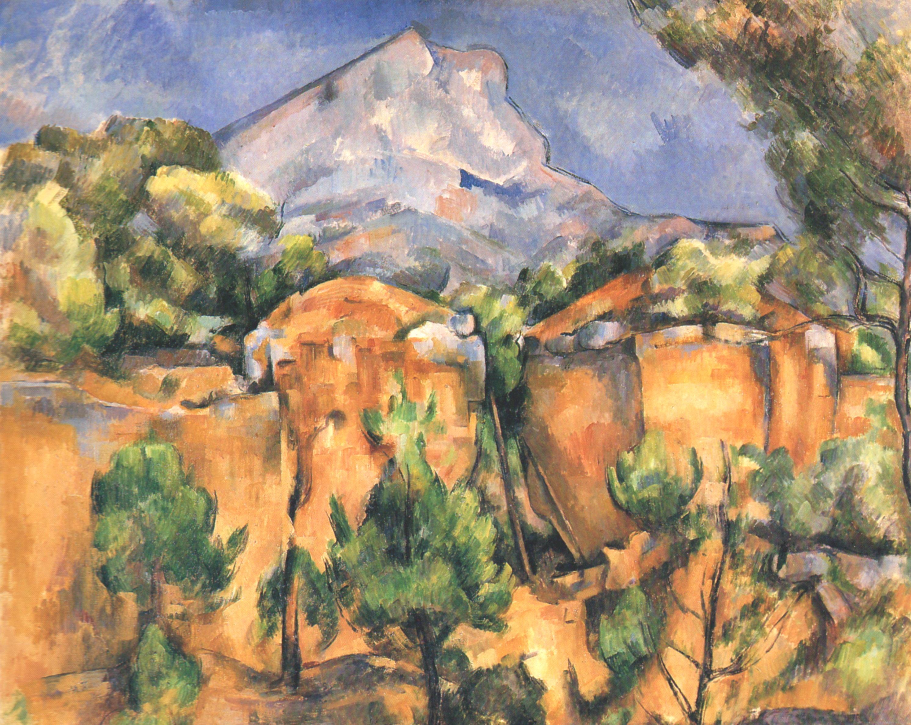 Figura 3 - Cézanne. Pedreira e o monte de Santa Vitória. Baltimore, The Baltimore Museum of Art.