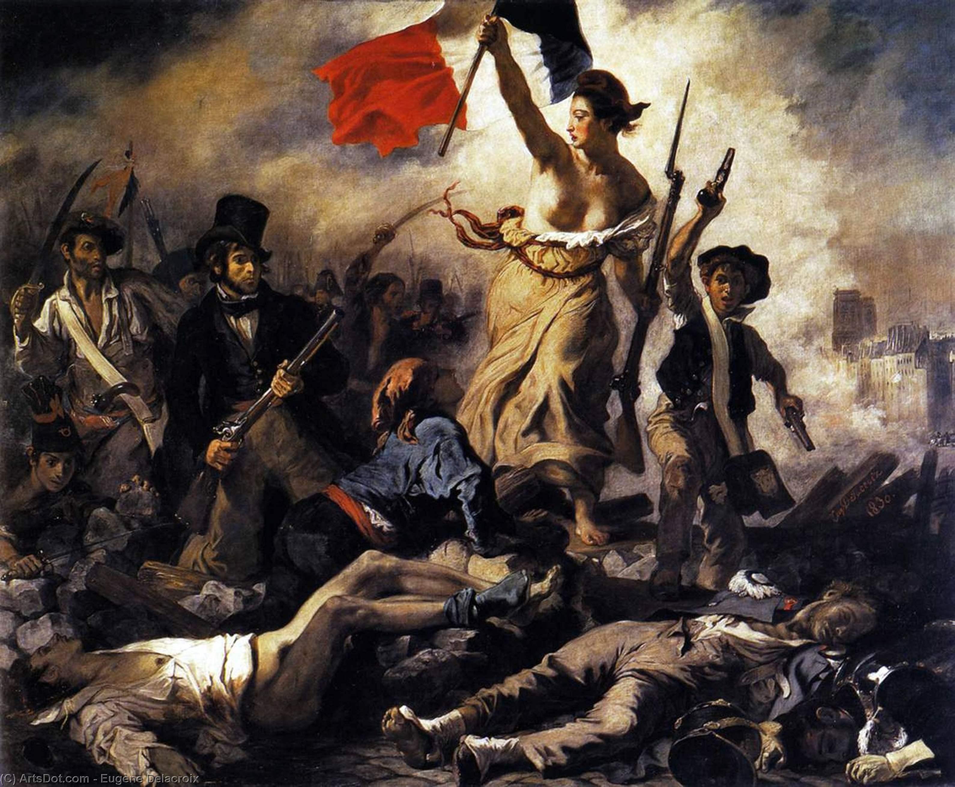 Figure 5. A liberdade conduzindo o povo (1830). Paris, Louvre.