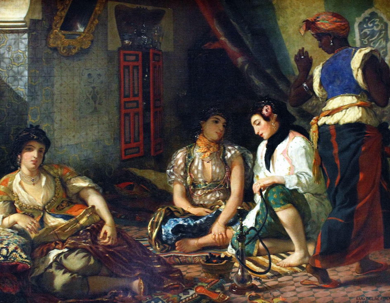 Figura 6 - As mulheres de Argel (1834). Paris. Louvre.