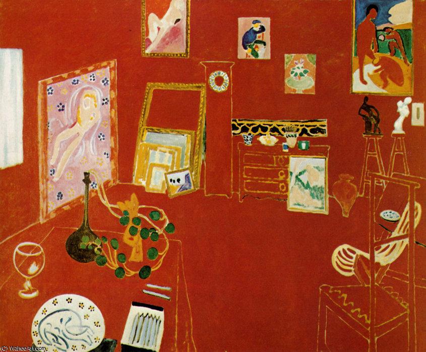 Figure 6 - O ateliê vermelho (1911). Nova York, Museum of Modern Art.