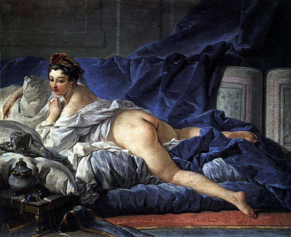 Figura 2 - François Boucher, Odalisca do cabelo escuro