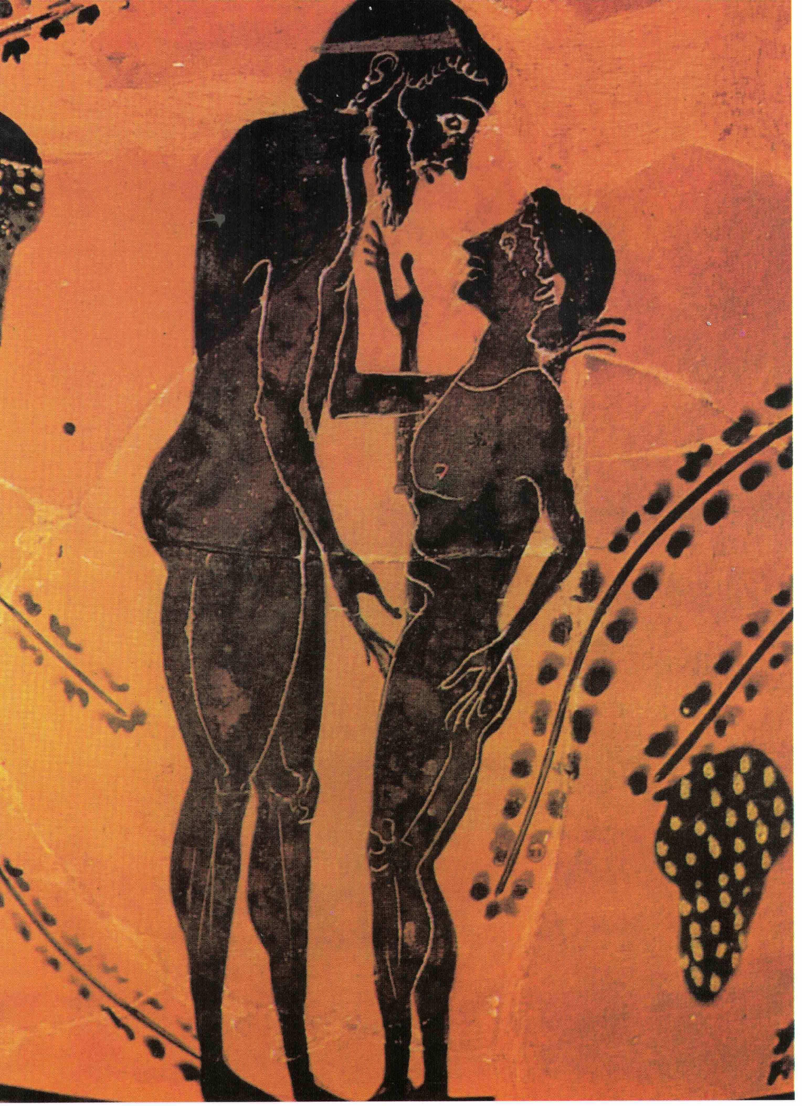Figura 5 - Homem cortejando rapaz (final do século VI a.C), Grécia