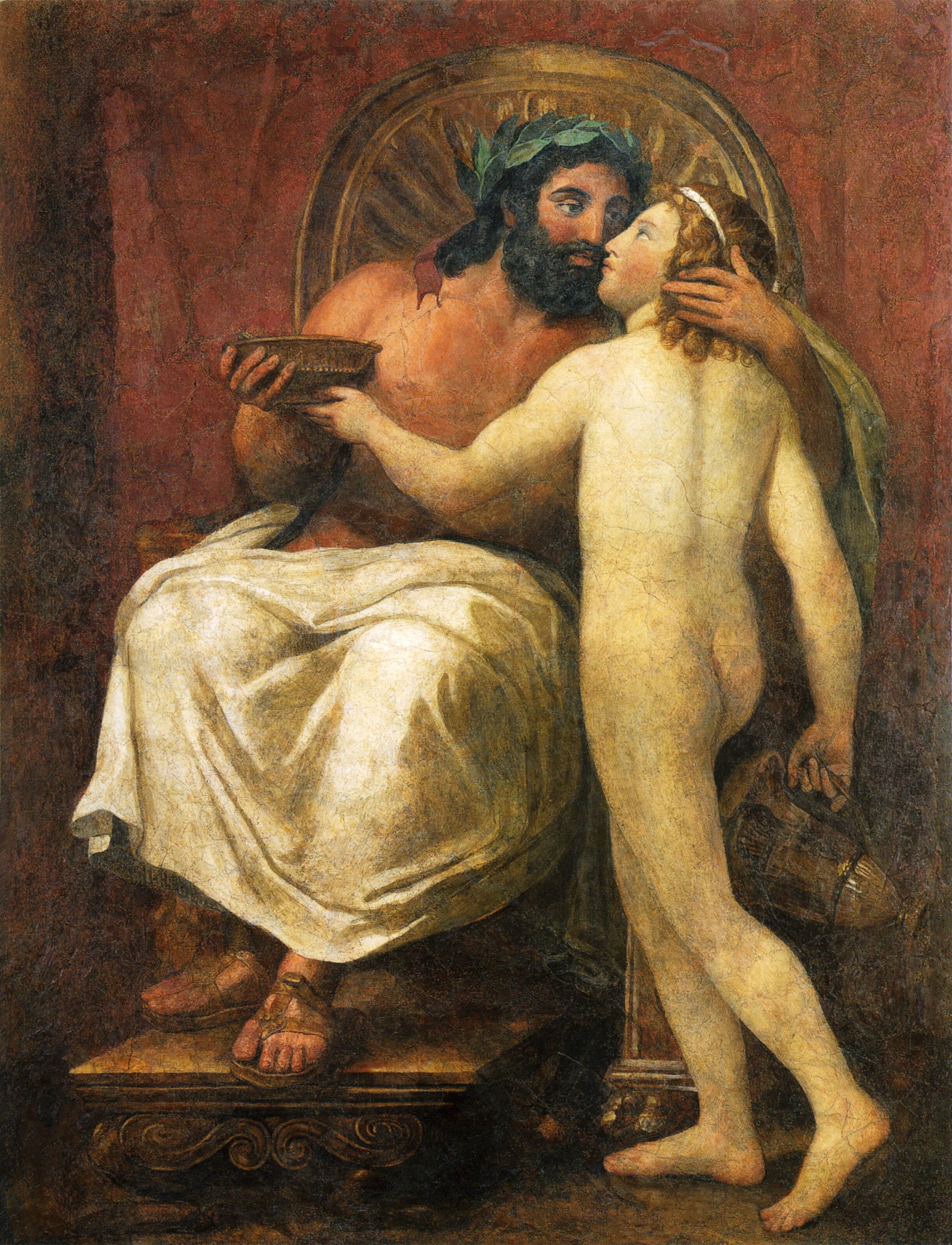 Figura 12 - Anton Raphael Mengs, Júpiter acaricia Ganimedes