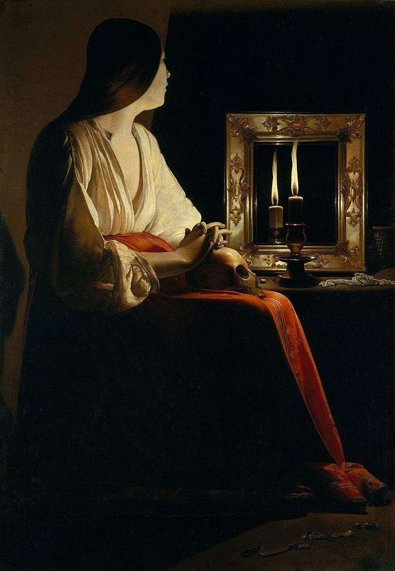 Figura 5. Georges de Latour, Maria Madalena (1640). The Metropolitan Museum, Nova York